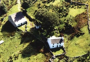 Aerial photo of the club hut